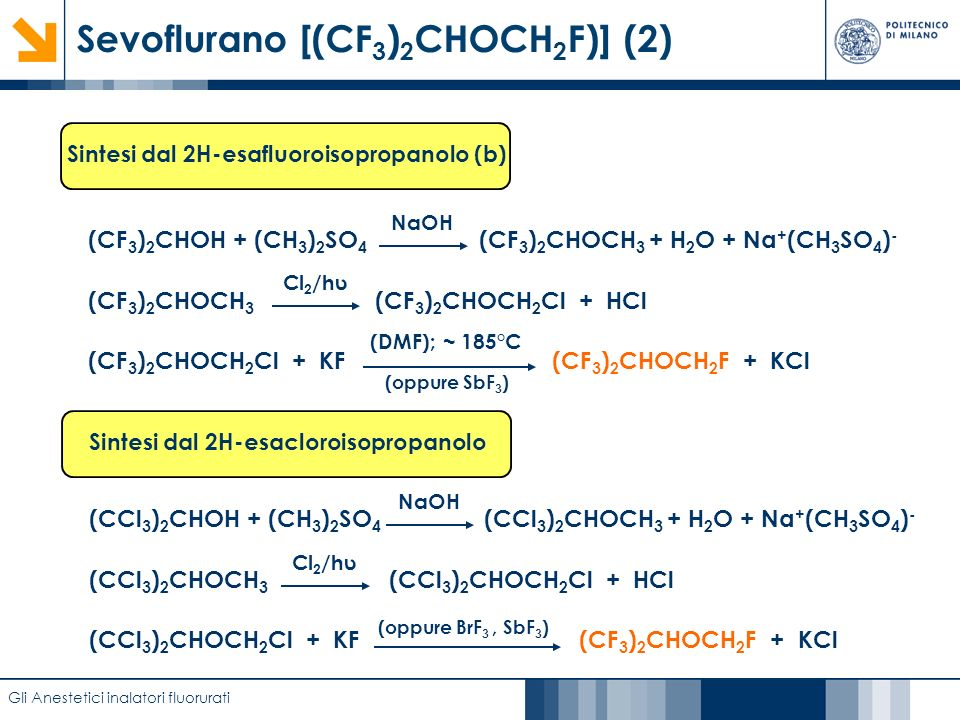 Sevoflurano [(CF3)2CHOCH2F)] (2)